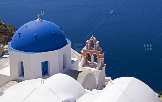 Church, Oia, Santorini, Cyclades, Greece, Europe