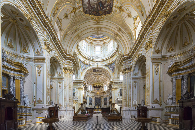 July 31, 2017: Inside view Cathedral of Bergamo, Bergamo, Province of Bergamo, Lombardy, Italy, Europe