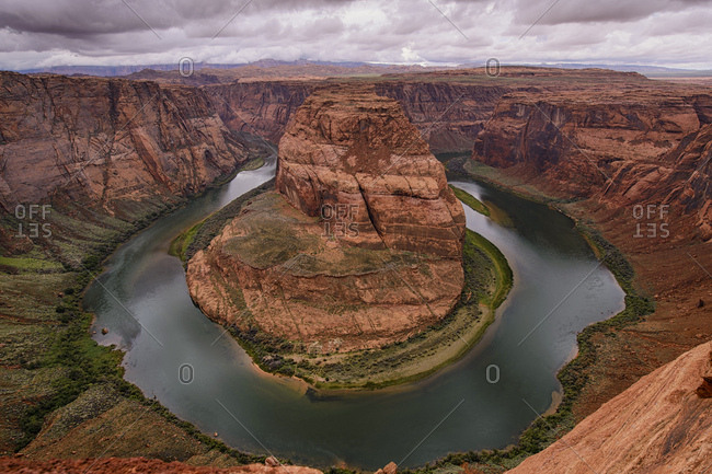 Horseshoe Bend, bend of the Colorado River, King Bend, Glen Canyon National Recreation Area, Page, Arizona, USA, North America