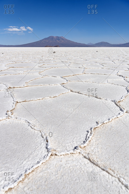 Structure of the salt crust, Salar de Uyuni, Altiplano, 3670 m above sea level, Bolivia, South America