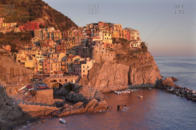 September 2, 2014: Townscape, Manarola, Cinque Terre, Rivera di Levante, Province of La Spezia, Liguria, Italy, Europe