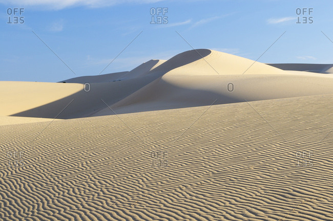 Desert and sand dunes of the White Sand Dunes, known as the Vietnamese Sahara, Bau Ba, Bao Trang, White Lake, Vietnam, Asia