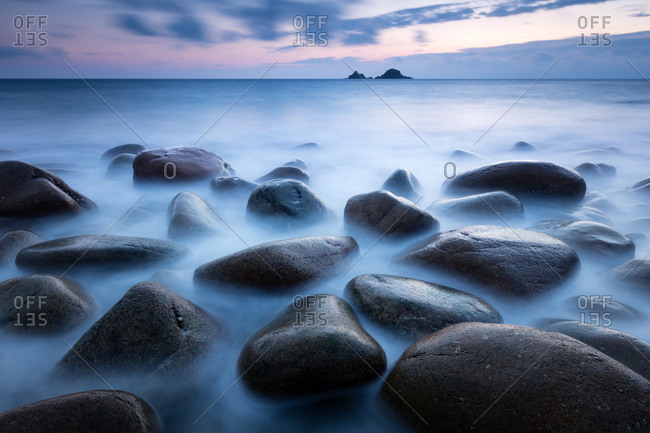 Evening mood Port Nanven, Cornwall, United Kingdom, Europe