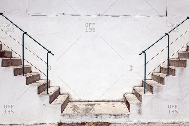 Stairs, Angra do Heroismo, Island of Terceira, Azores, Portugal, Europe