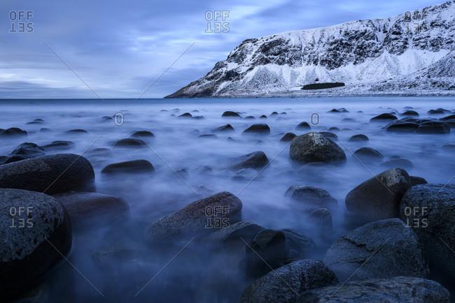 Beach of Unstad, Lofoten, Norway, Europe