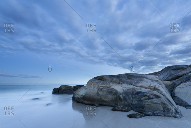 Beach at Hellesto, Rogaland, Norway, Europe