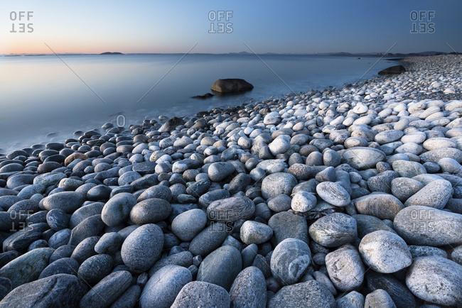 Pebble beach at Bore, Randaberg, Rogaland, Norway, Europe