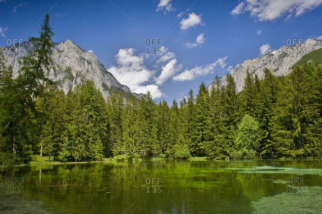 Pfarrerteich, pond, Tragoess, Styria, Austria, Europe