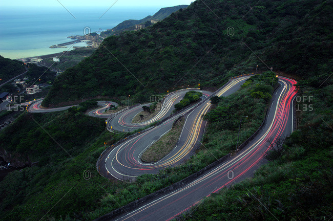 Serpentine road, Xinbei, Taiwan, Asia