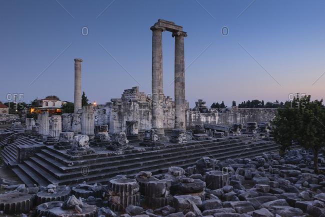 September 13, 2009: Didyma, Didymaion, Temple of Apollo, important oracle site, South Aegean coast, Southwest Turkey, west coast, Turkey, Mediterranean, Europe, Asia