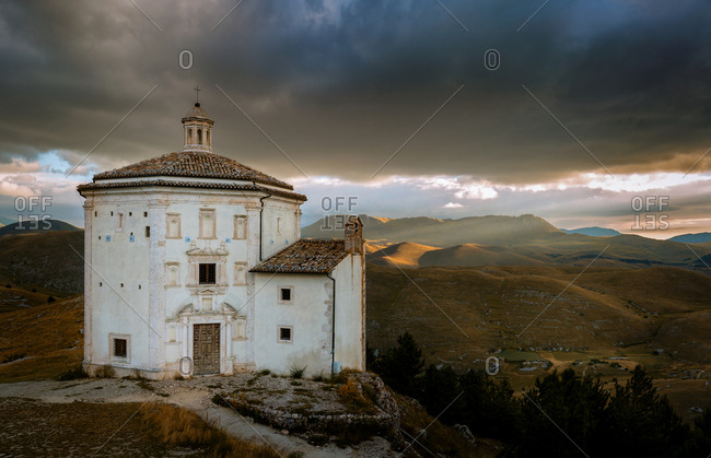 Church Santa Maria della Pieta, Calascio, Gran Sasso, Abruzzo, Italy, Europe