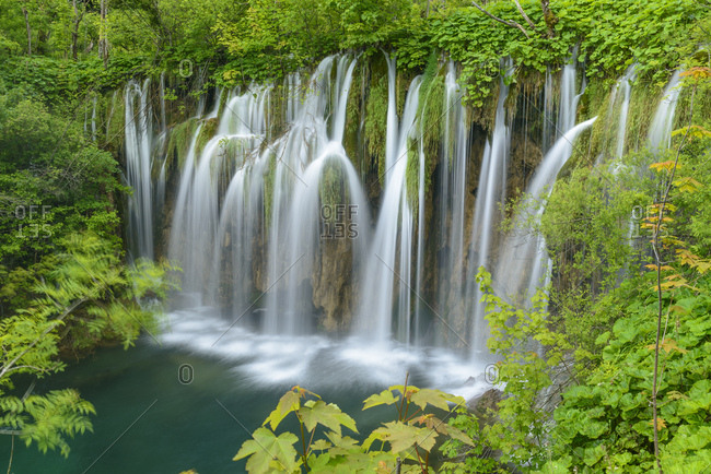 Waterfall, Plitvice Lakes National Park, Jezera, Lika-Senj County, Croatia, Europe