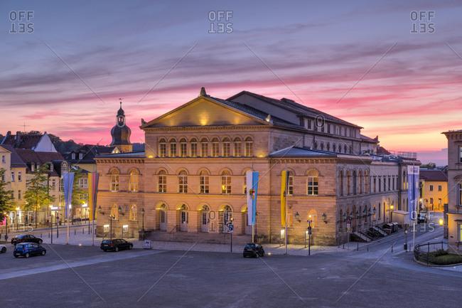May 31, 2017: State Theatre, palace square, Coburg, Upper Franconia, Franconia, Bavaria, Germany, Europe