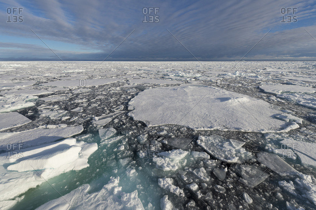 Edge of pack-ice, Arctic Ocean, Spitsbergen Island, Svalbard Archipelago, Svalbard and Jan Mayen, Norway, Europe