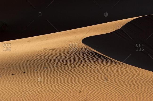 Sand dune, Namib Desert, Namibia, Africa