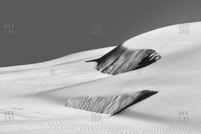 Sand dunes in Worimi National Park, Australia