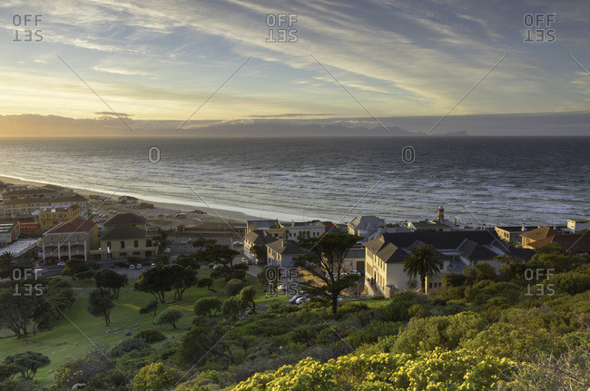 Cape Town, Western Cape, South Africa, Africa - August 4, 2017: Muizenberg Beach, Cape Town, Western Cape, South Africa, Africa