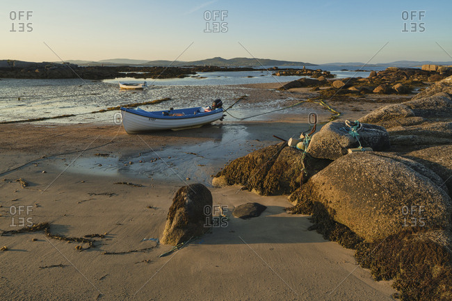 Arranmore Island, County Donegal, Ulster, Republic of Ireland, Europe - July 17, 2017: Cloghcor