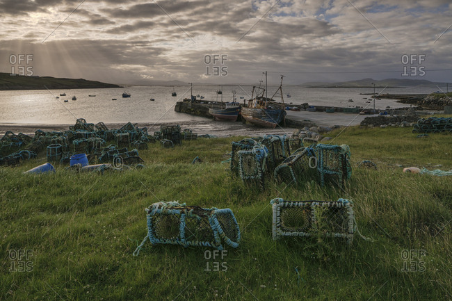 Arranmore Island, County Donegal, Ulster, Republic of Ireland, Europe - July 15, 2017: Rossillion Bay