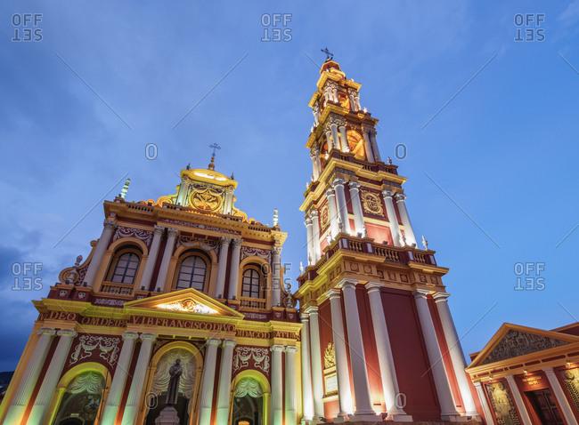 Salta, Argentina, South America - April 7, 2017: Saint Francis Church