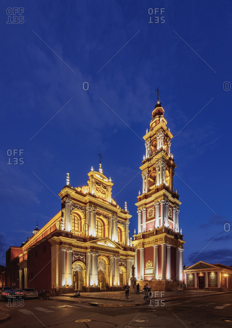 Salta, Argentina, South America - April 7, 2017: Saint Francis Church