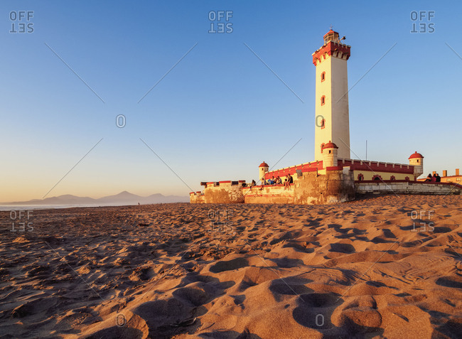 La Serena, Coquimbo Region, Chile, South America - April 12, 2017: Lighthouse at sunset