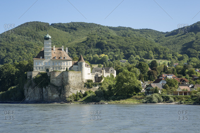 Schloss Schonbuhel and River Danube, Wachau Valley, Lower Austria, Austria, Europe