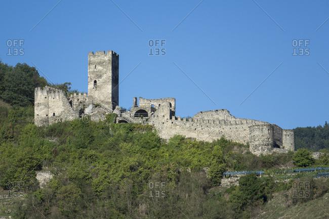 Hinterhaus castle ruins, Spitz, Wachau Valley, UNESCO World Heritage Site, Lower Austria, Austria, Europe