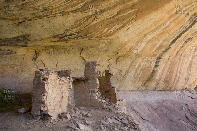 Anasazi Ruins, Monarch Cave, Butler Wash, near Bluff, Utah, United States of America, North America