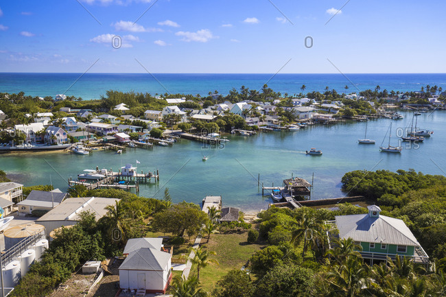 Habour, Hope Town, Elbow Cay, Abaco Islands, Bahamas, West Indies, Central America
