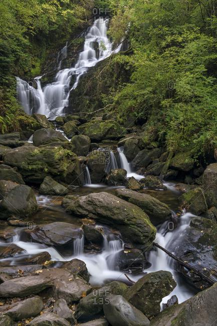 Torc Waterfall, County Kerry, Munster, Republic of Ireland, Europe