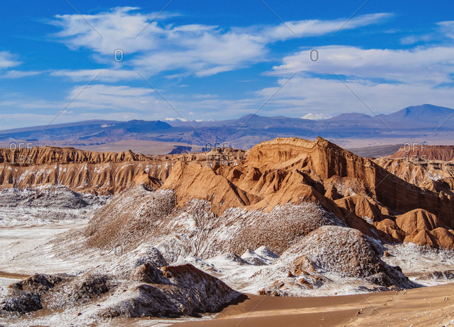 Valle de la Luna (Valley of the Moon), near San Pedro de Atacama, Atacama Desert, Antofagasta Region, Chile, South America