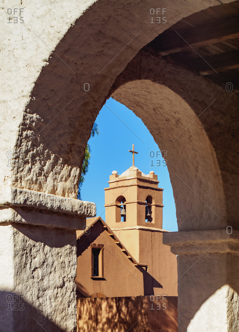 Church in San Pedro de Atacama, Antofagasta Region, Chile, South America
