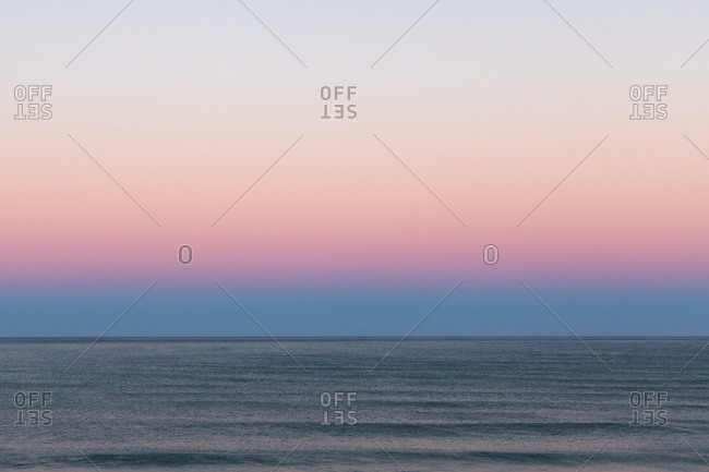 Colorful sunset sky over ocean