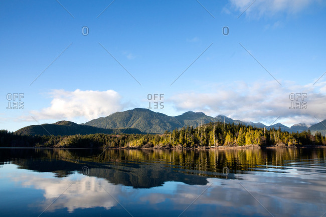Beautiful mountain landscape reflecting in a lake