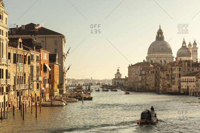 Italy- Veneto- Venice- Canal Grande in the morning