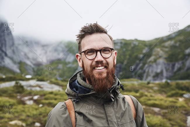 Portrait of man hiking