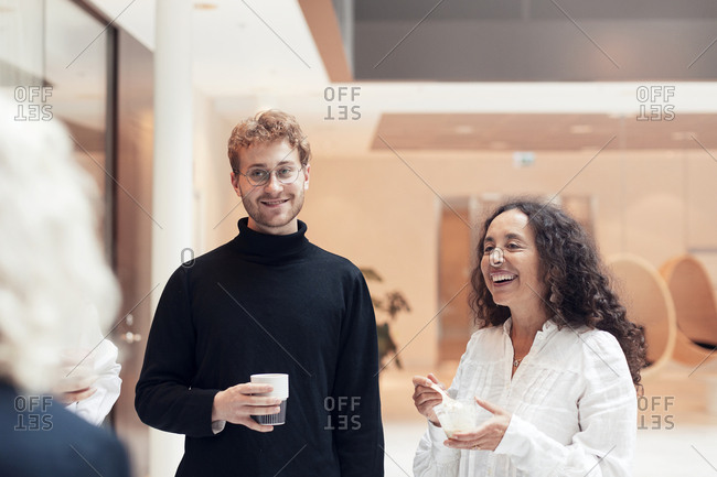 Smiling colleagues