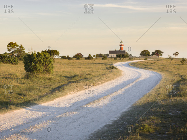 Country road leading to lighthouse