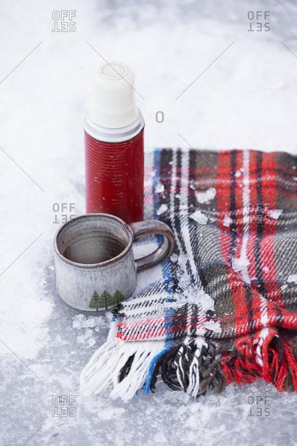 Coffee break on snow
