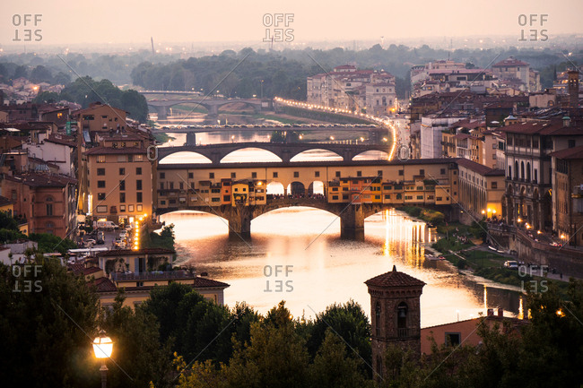 August 5, 2015: Scenic view, Ponte Vecchio, Florence, Italy
