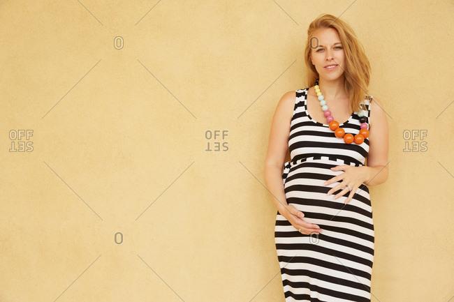 Portrait of pregnant woman