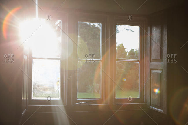 Sunlight shining through window