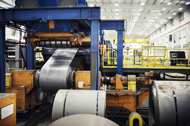 Metal sheets manufacturing at industry