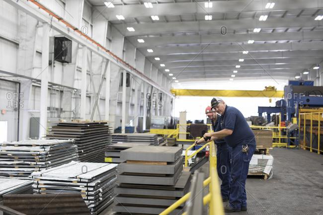 Manual workers working in Steel Industry mill