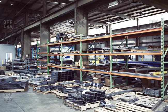 Manufactured metals in storage room