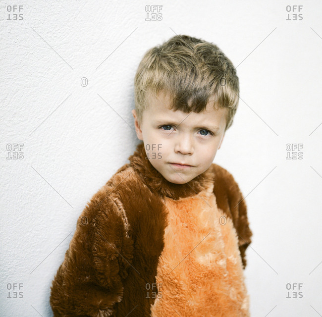 Portrait of a boy in his Halloween costume
