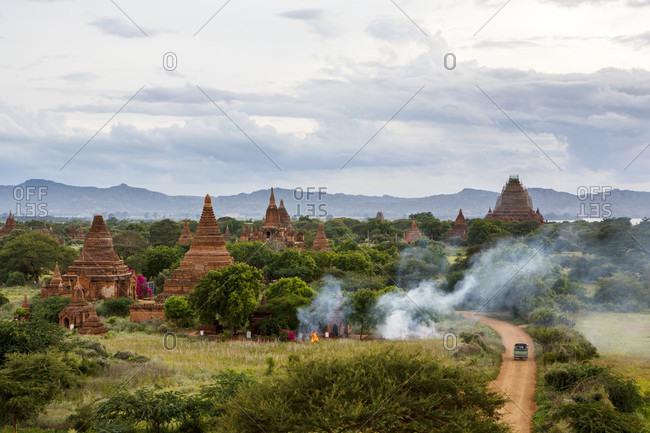 Historic pagodas and temples, Bagan, Mandalay Region, Myanmar