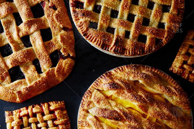 Pie lattice step-by-step preparation - Offset