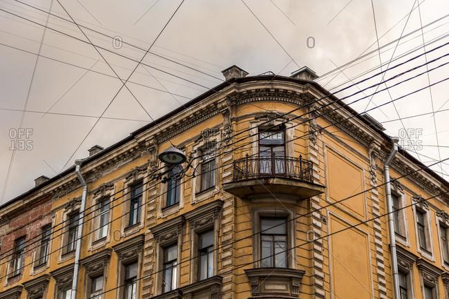 Yellow building in St. Petersburg, Russia